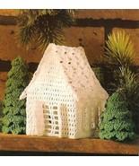 X943 Crochet PATTERN ONLY Victorian Miniature Cottage & Fir Tree Ornaments - $9.50
