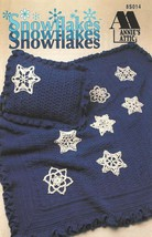 X281 Crochet PATTERN ONLY Afghan and Pillow with 8 Snowflake Pattern Christmas - $9.50