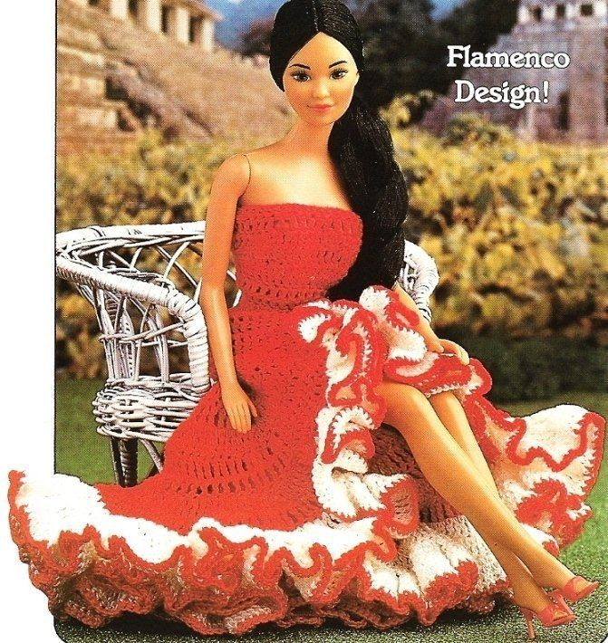 Primary image for X509 Crochet PATTERN ONLY Senorita's Dress Fashion Dolls or Barbie Pattern
