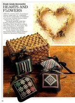 Y944 Cross Stitch PATTERN ONLY Country Sachets and Heart Wreath Patterns - $7.45