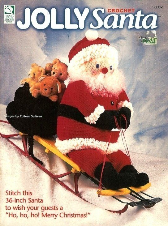 "Primary image for X322 Crochet PATTERN Book ONLY Jolly Santa 36"" Santa Doll & Bag Pattern"