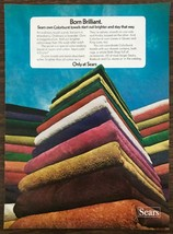 1972 Sears Roebuck Colorburst Towels Print Ad Start Out Bright and Stay ... - $10.49