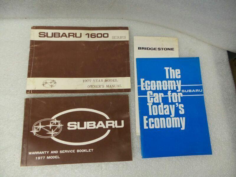 Subaru 1600 Series 1977 Owners Manual 17213