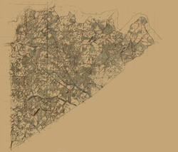 Prince George County Virginia - 1864 - 26.83 x 23 - $36.95+