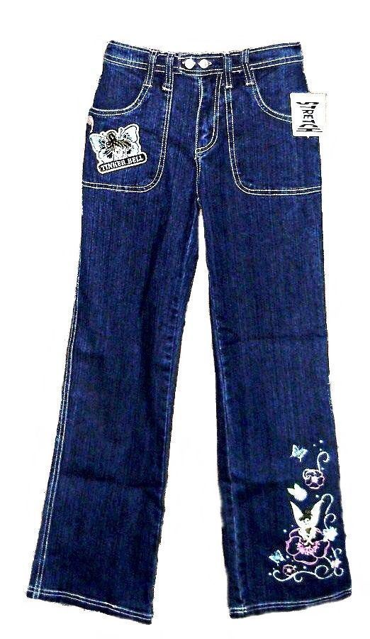 """Disney Girls Tinkerbell Jeans Size 14 TALL 28x28"""" Mint with Tag - $10.95"""