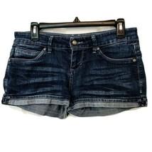 Levi's Womens Shorty Short Rolled Hem Whiskered Jean Shorts Junior Size 7 - $28.02
