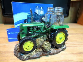 Salt and Pepper Shaker Set Green Farm Tractor - $14.95