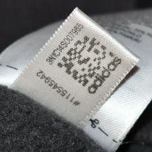 adidas Originals Women's Dark Gray Logo Graphic Hooded Hoodie Sweatshirt Size M image 5