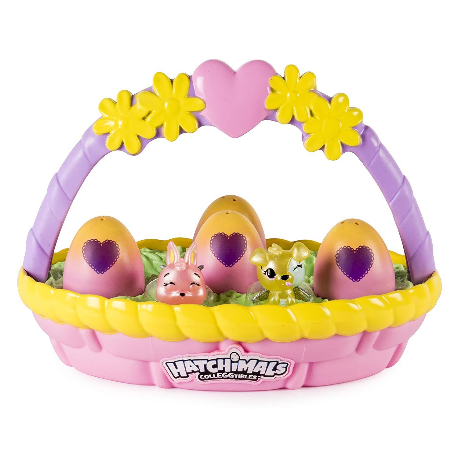 Hatchimals CollEGGtibles Easter Basket with 6 Hatchimals CollEGGtibles