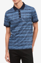 Calvin Klein Men's Blue Space-Dyed Polo, Size Small - $29.69