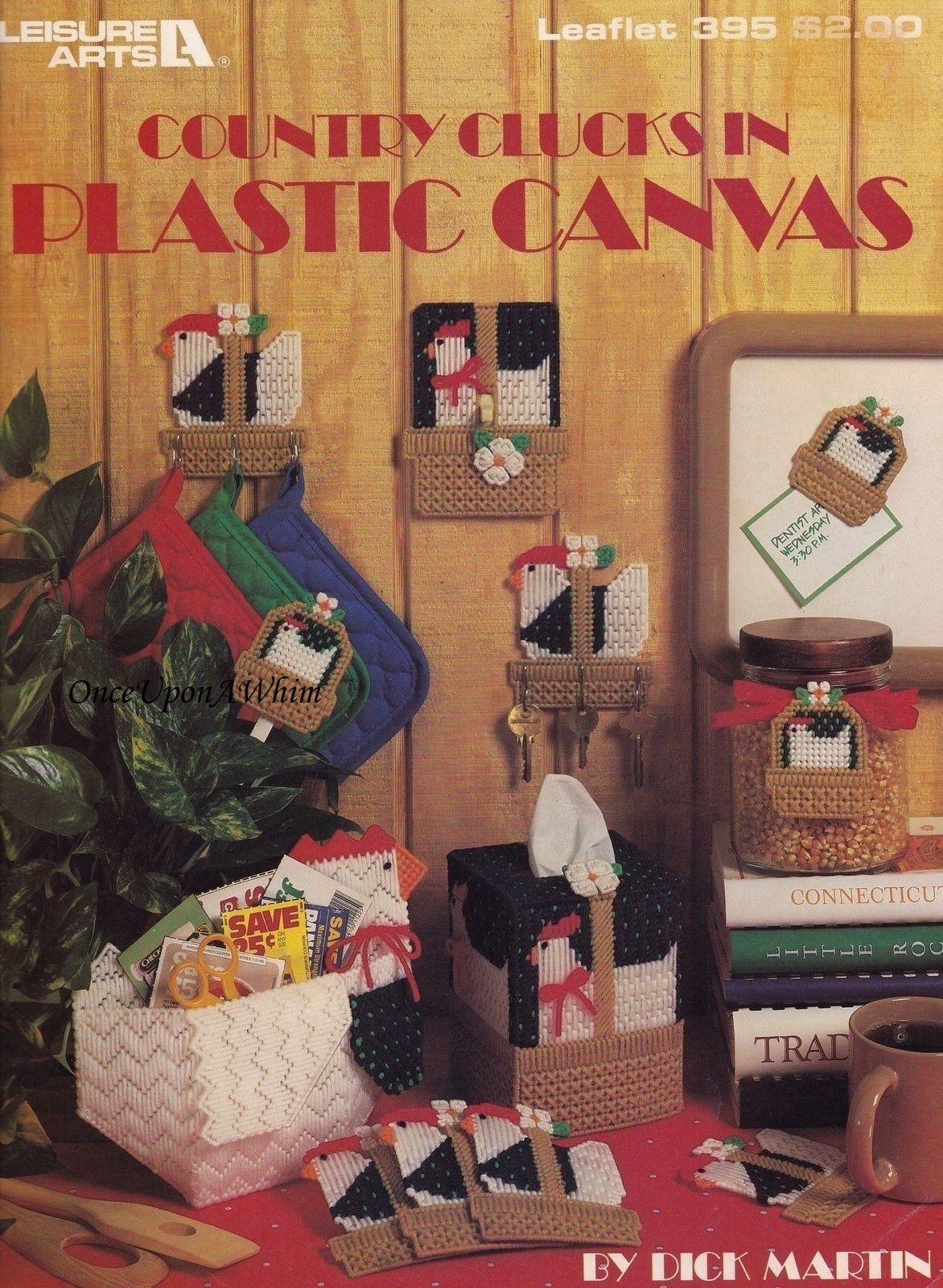 Primary image for Country Clucks, Leisure Arts Home Decor Plastic Canvas Pattern Booklet 395