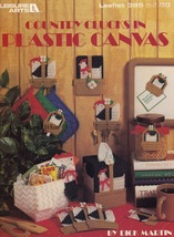 Country Clucks, Leisure Arts Home Decor Plastic Canvas Pattern Booklet 395 - $3.95