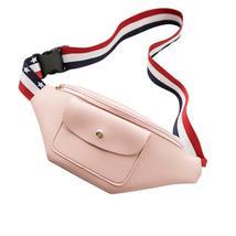 Women Messenger Bags Zipper Striped Phone Waist - $18.49
