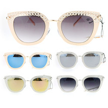 SA106 Luxury Womens Floral Die Cut Metal Brow Cat Eye Sunglasses - $12.95