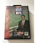 ESPN Sunday Night NFL Sega Genesis COMPLETE CIB w/ Poster - $10.17