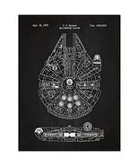 Inked and Screened Sci-Fi and Fantasy Star Wars Millennium Falcon - 1979... - $19.41