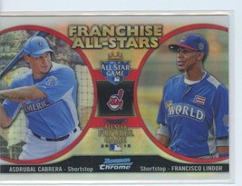FRANCISCO LINDOR RC 2012 Bowman Chrome Franchise All-Stars #CL ROOKIE In... - $4.49