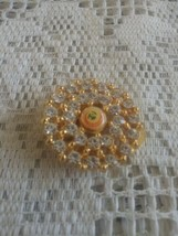 Vintage 1995 Beijing Rhinestone Scarf Clasp Clip Holder - $12.00