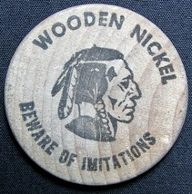 Lincoln's Birthplace Kentucky Indian Head Wooden Nickel - $2.99