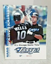 Toronto Blue Jays 2008 Spring Training Magazine and Scorecard vs Reds - $5.89