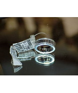 Gucci 18k White Gold 66 Diamond Spinner Ring Sz 6.5 New Tag M/F Logo Aut... - $4,643.09