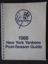 1988 New York Yankees Post-Season Guide - $8.59