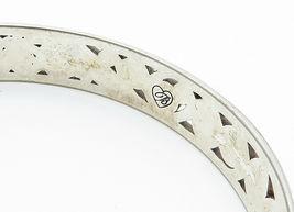 925 Sterling Silver - Vintage Baroque Swirl Detailed Bangle Bracelet - B6049 image 4