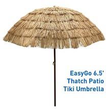 EasyGo - 6.5' Thatch Patio Tiki Umbrella – Tropical Palapa Raffia Tiki H... - $68.86