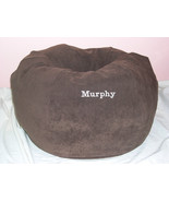 SNUGGLE BALL DOG BED SUEDE Small Choose Color Name Personalized+ Made in the USA - $49.99