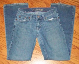 AMERICAN EAGLE ~ WOMEN'S JUNIORS SIZE 0 SHORT ~ HIPSTER ~ STRETCH BLUE J... - $14.95