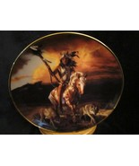 SPIRIT OF THE RISING SUN collector plate HERMON ADAMS Native WESTERN HER... - $9.99