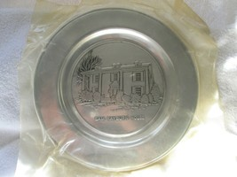 "Wilton Armetrle Sam Rayburn House pewter 11"" plate, dated 1975, orig packaging - $25.00"