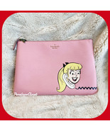 KATE SPADE ARCHIE COMICS LARGE ZIP POUCH CLUTCH BETTY & VERONICA  IN PIN... - $58.29