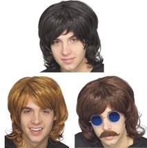 Wig - Adult - 70's Shag - Set of 3 - Black, Blonde & Brown - Mens 60's L... - $28.48
