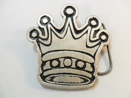 2000 CROWN Belt Buckle Silver Tone Metal Monste... - $4.90