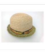 $98 Raffaello Bettini Bloomingdales Straw Hat Natural Green Size Large I... - $44.01