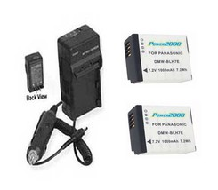 Two 2 X Batteries + Charger For Panasonic Dmc Gm1 Dmc Gm1 K Dmc Gm1 Kd Dmc Gm1 Ks - $32.35