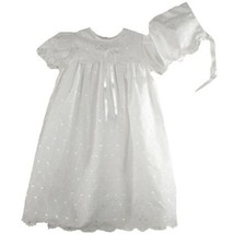 Precious Sweet Petit Ami Lined Cotton Eyelet Christening Scalloped Yoke ... - $38.49+