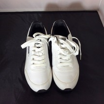 Puma Sport Lifestyle Shoes Sneakers Black White Striped Lace Up Size 10 1/2 - $39.55