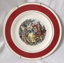Imperial Service Plate Salem China Dancing Colonial Couple 23K Gold Trim... - $24.95