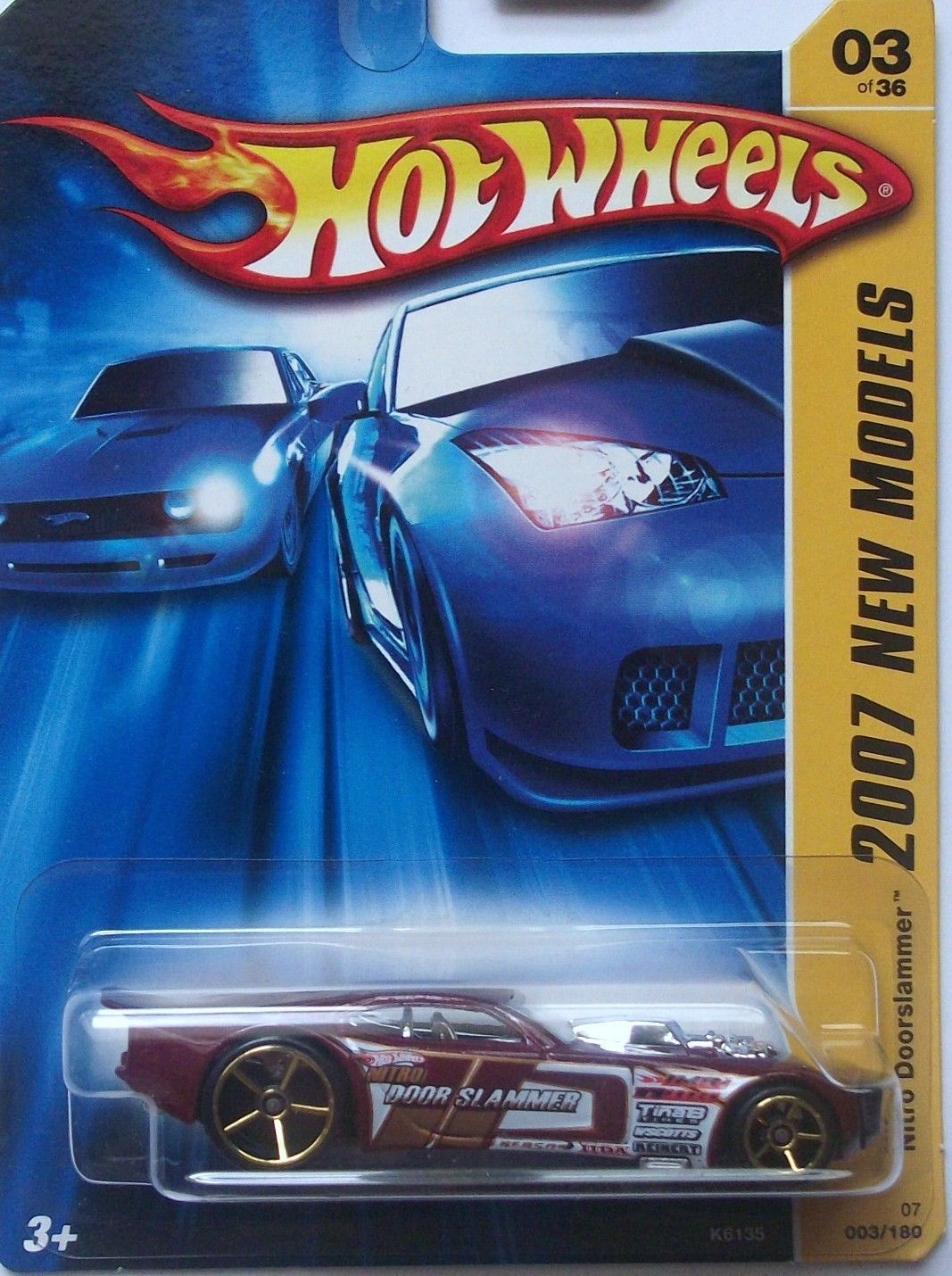 Primary image for Hot Wheels 2007 New Models First Edition FE 003 Nitro Doorslammer Dark Red o5_g