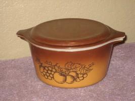 Vintage Pyrex Ovenware Old Orchard Casserole Dish Model 473 1 Qt.  Lid 2... - $12.16