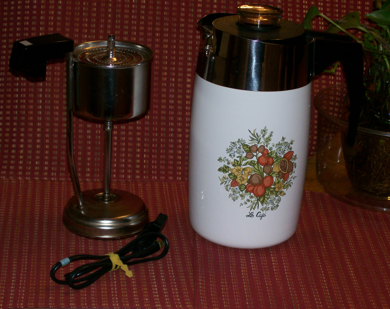 Vintage Corning Ware Spice Of' Life Electric Coffee Pot ...
