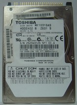 "New 100GB 2.5"" 9.5MM IDE 44PIN Drive Toshiba MK1031GAS HDD2A02 Free USA ... - $48.95"