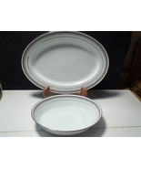 "2 OVAL SERVING PIECES NORITAKE ""BARSTOW"" DINNERWARE CHINA~~mid century - $24.95"
