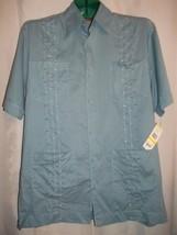 "Mens Size M Cubavera Panama City Pocket ""Blue Water"" Button Front Shirt NWT - $39.59"