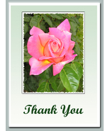 """Thank You"" Cards: 2 Handmade Floral-Photos - $2.95"