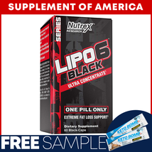 "Lipo 6 Black Ultra Concentrate 60 Capsules ""Free Samples + Free Shipping"" - $26.71"