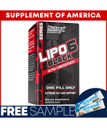"""LIPO 6 Black Ultra Concentrate 60 Capsules """"FREE SAMPLES + FREE SHIPPING"""" - $26.71"""
