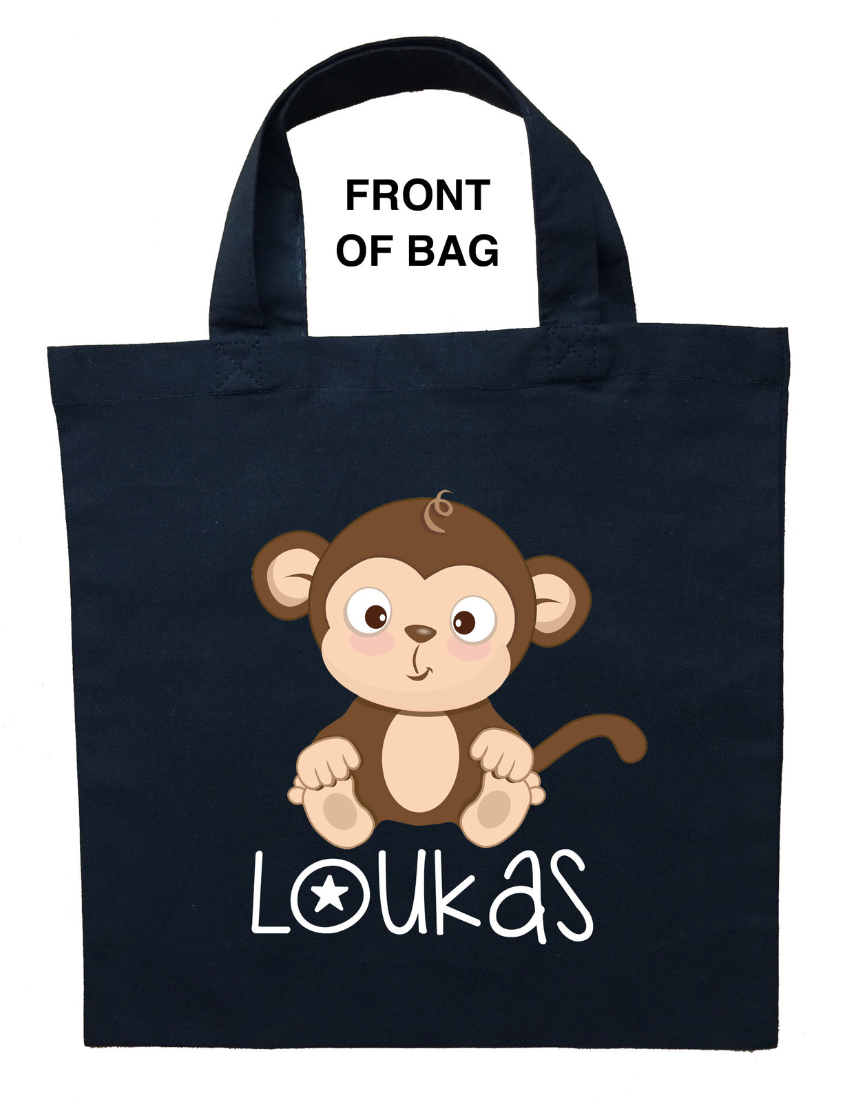 Monkey Trick or Treat Bag, Personalized Monkey Halloween Bag, Monkey Loot Bag